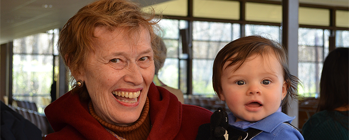 UUCR Member with her Grandson
